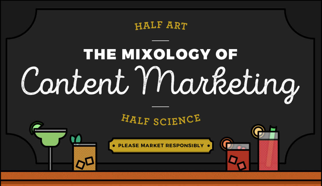 The mixology of Content Marketing Infographic