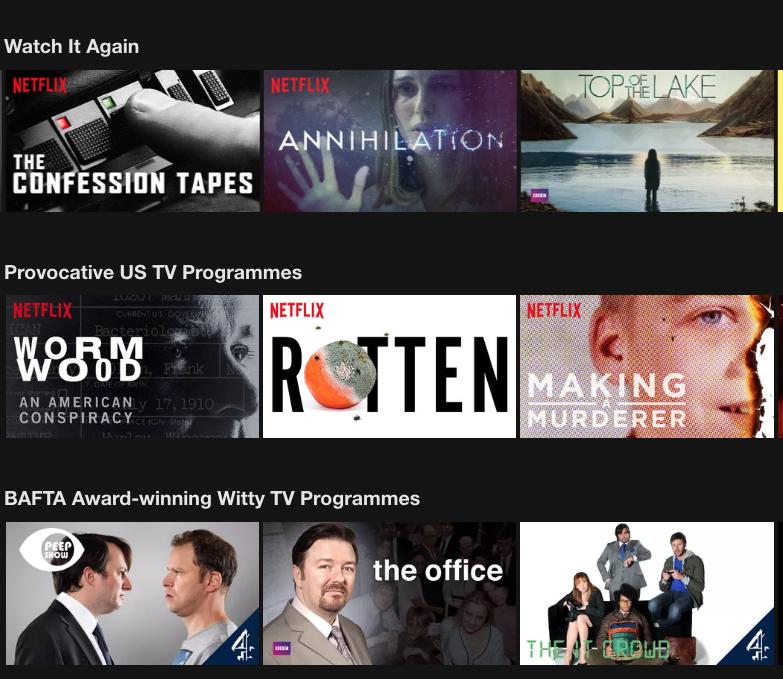 Hyper-personalisation Netflix