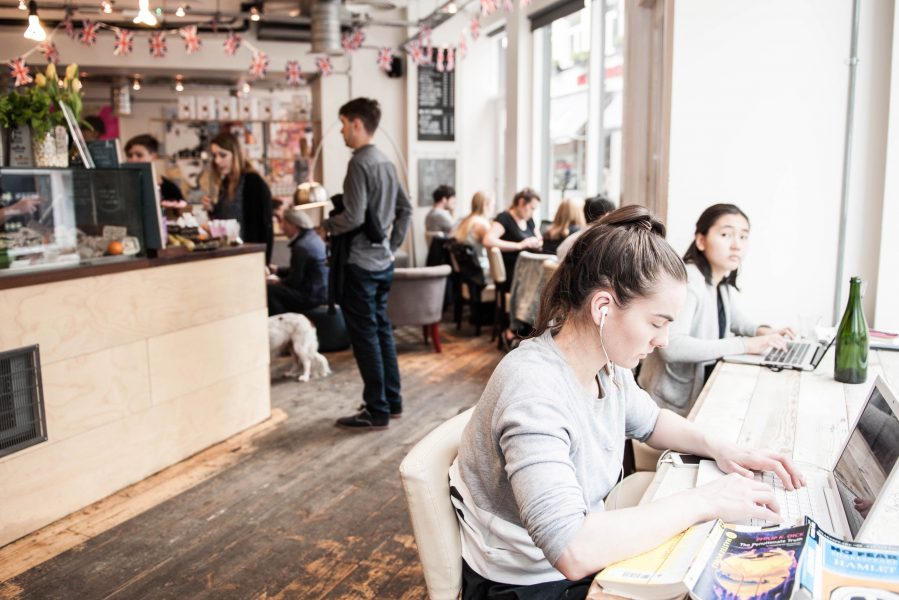 Coffee workspace - TY Seven Dials