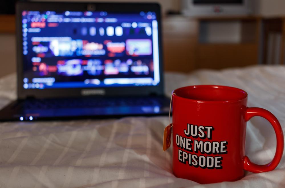 Millennial watching Netflix