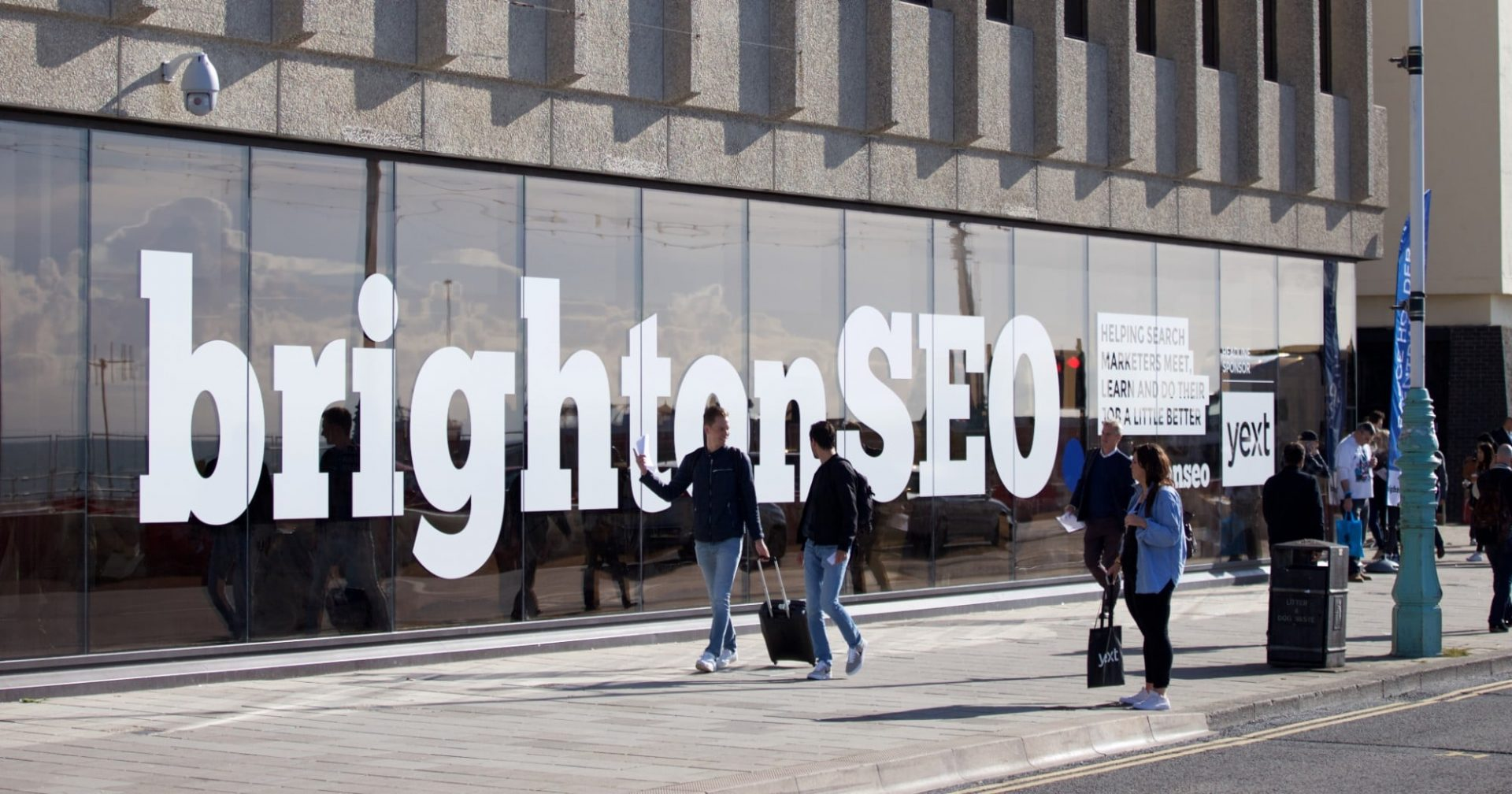 BrightonSEO front window