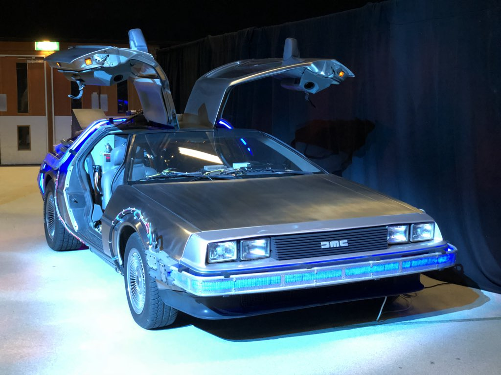 the Delorean at brightonSEO