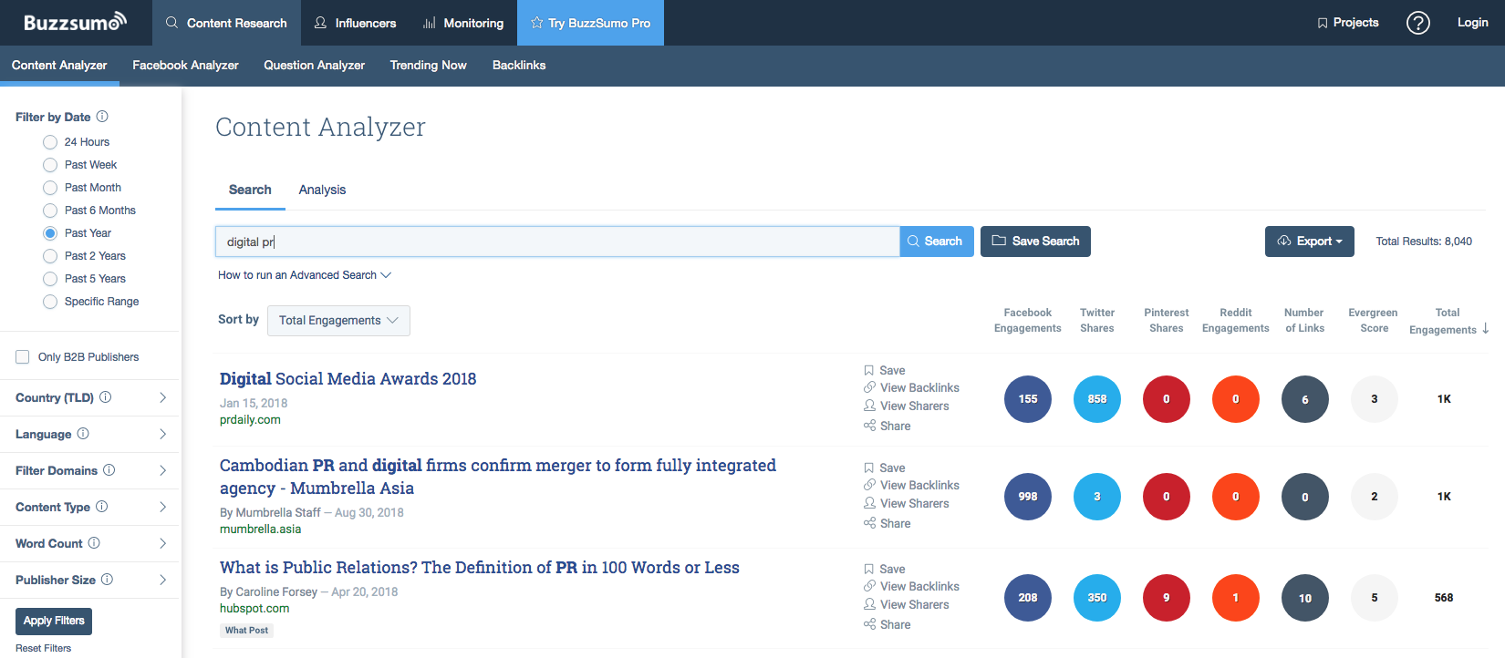 Digital pr tools like buzzsumo will be pivotal in scaling outreach and promotion