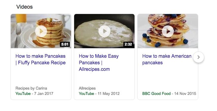 Googles SERPs Video Carousel