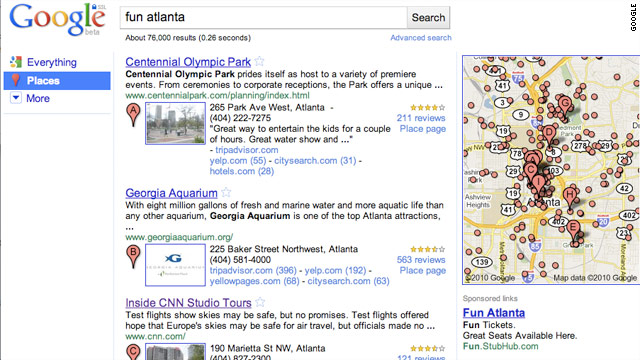 Google introduced Place Search in 2010