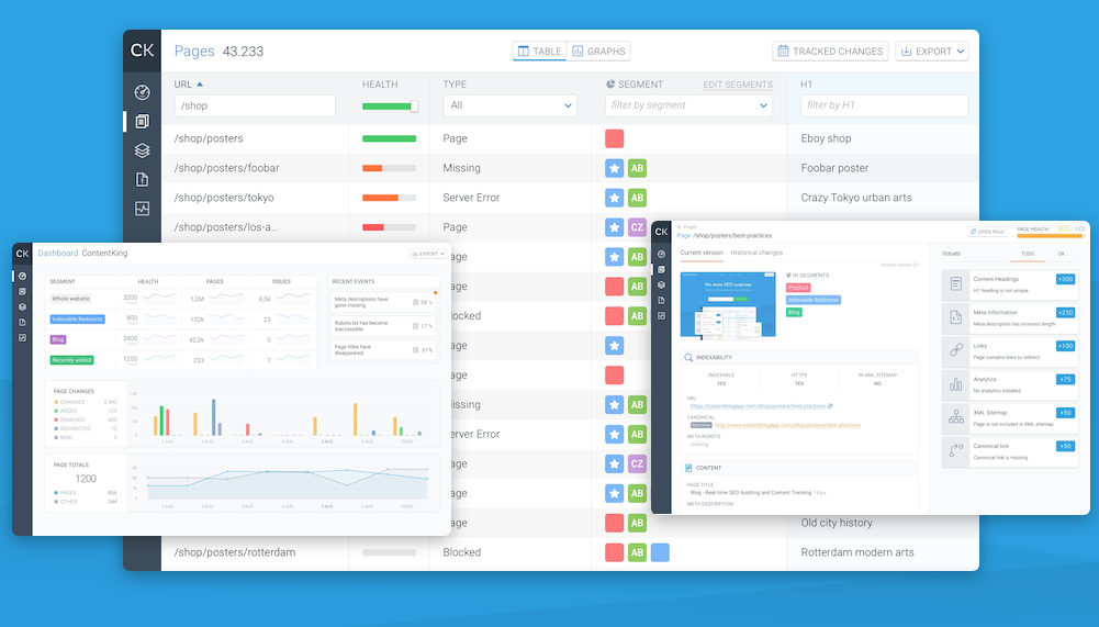 Content king is a tool that offers realtime SEO monitoring