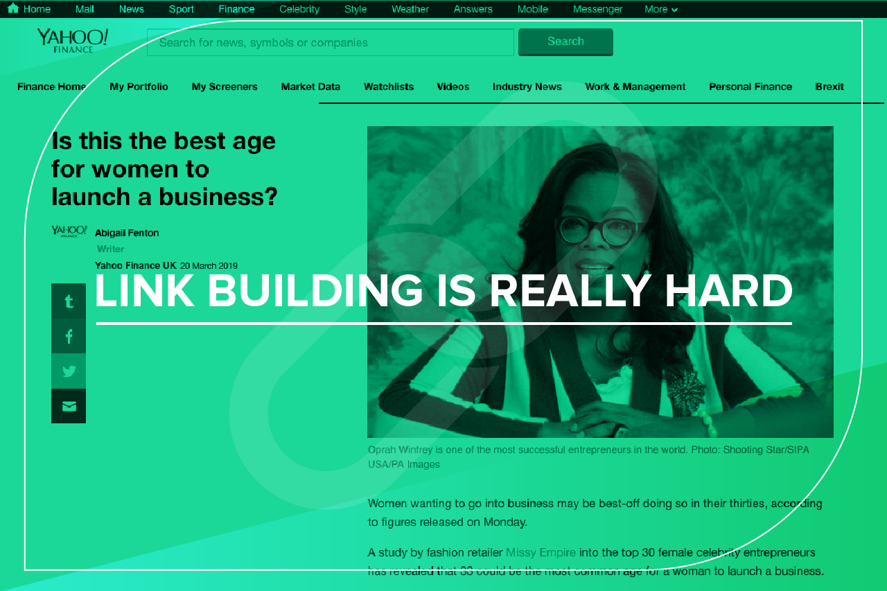 Link Building is REALLY Hard | JBH - The Content Agency