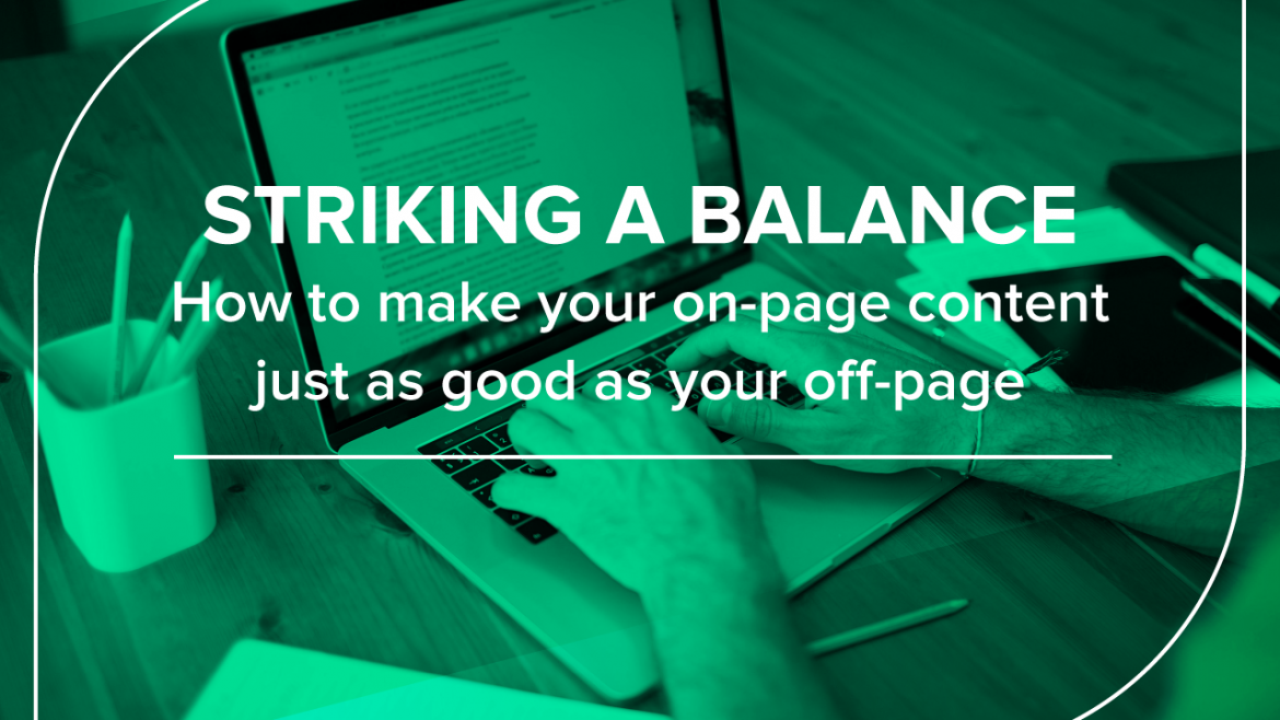 Striking a Balance onpage and offpage content