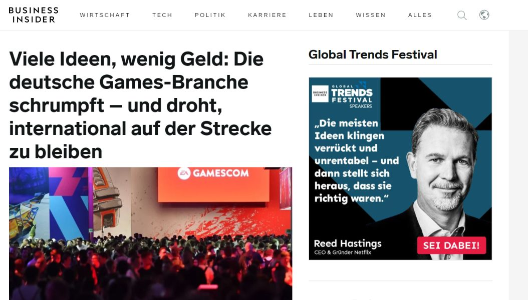 Screenshot taken from https://www.businessinsider.de/ on 26/08/2020
