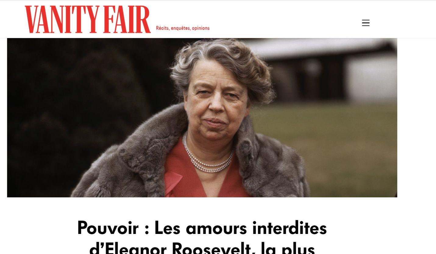 Screenshot taken on https://www.vanityfair.fr/ on 26/08/2020